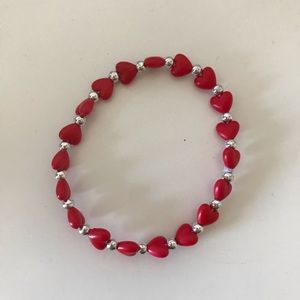 5/$10 Heart Bead Bracelet